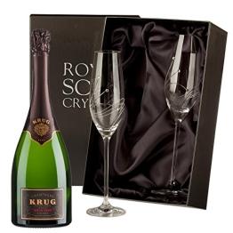 Krug Vintage Champagner mit Swarovski Crystal Flutes - 1