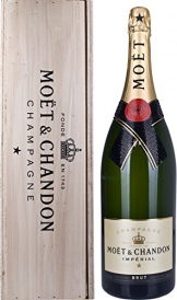 Moet & Chandon Brut Imperial Glamour Edition Doppelmagnum in Holzkiste (1 x 3 l) - 1