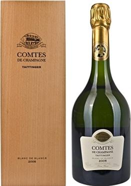Taittinger Comtes de Champagne Brut Blanc de Blanc 2005 in Holzkiste (1 x 0.75 l) - 1